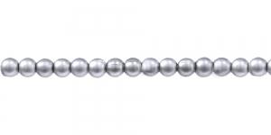Matt hõbedane ümar plasthelmes, 4mm, BL13
