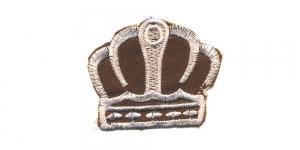 Pruun valgega kuninga kroon, 6 x 5 cm, AT24