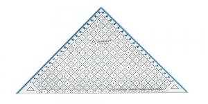 Ruutmärgistusega kolmnurk-joonlaud 19(22)cm, Le Summit 34219