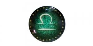 25mm Rohelisekirju dekoraatiivkivi, Kaalud/Libra, KM156-B