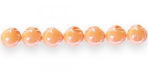 AE70 11mm Oranž ümar läbipaistmatu plasthelmes
