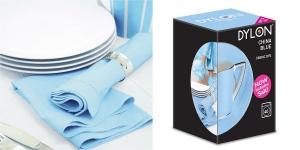 Pesukoneväri, sis. suolan, DYLON Fabric Dye, 350 g, Vaaleansininen, China Blue #06