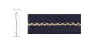 9700NI, Metal Zipper, zip fastener, 13cm-14cm, black, member width: 6mm, nickel plated