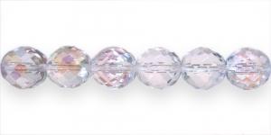 Ümar tahuline klaaspärl, Tšehhi, 14mm, Erk läbipaistev AB läikega, LH1