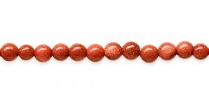 KM48C 6mm Pruunikaspunased, kerge sädelusega, liivakivist helmed