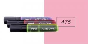 Akrüülvärviga viltpliiats, katva värviga, 15mm, 25ml, Darwi Acryl Opaque, PINK 475