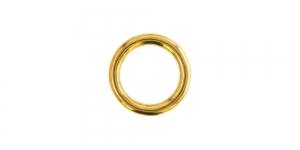 Metallirengas ø15 mm, pinnoite: kultainen, SHR17
