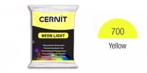 Polymer clay Fluorescent, Neon, Cernit, 56g, Yellow 700