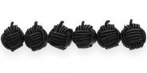 CB70 10mm Must põimitud paela kattega helmes