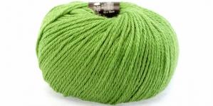 Alpakavillast ja naturaalsest siidikiust lõng Alpaca Silk; Värv 26 (Õunaroheline), Austermann