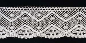 Puuvillane pits, Cotton (Crochet) Lace, 1794-01 laiusega 7cm, värv valge
