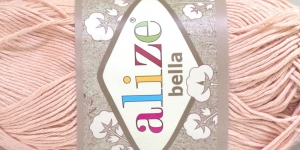 Puuvillane lõng Bella; Värv 417 (Hele vanaroosa) / Alize