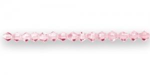 LR6 4mm Roosa läbipaistev tahuline klaas
