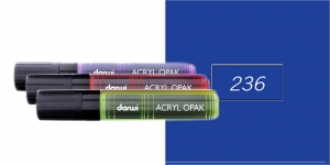 Akrüülvärviga viltpliiats, katva värviga, 15mm, 25ml, Darwi Acryl Opaque, DARK BLUE 236