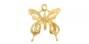 24mm Kuldne, liblikaga metallist riputis EG188