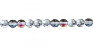 LN422A 8mm Värvitu, 1/2 AB- kattega läbipaistev klaashelmes