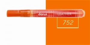 Naha viltpliiats Darwi Leather, 2mm joon, 6ml, ORANGE 752