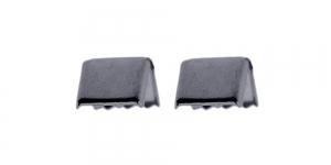 (Nahk)paelte otsakinnis Mustjas / Black Cord End C-Crimp, Dimple Pattern / 12x10mm / EI65