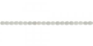 LA34 Ümar tahuline klaaspärl, Tšehhi, 3mm, Valge läbipaistmatu