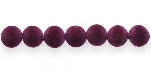 Lillakas tumepunased samethelmes, 12mm, CD29