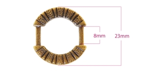 Välilenkki, metalli 21 x 23 mm, sopii hihnaan leveydella 8 mm, PA71A