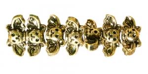 BR4 12x9mm Antiik kuldne tiivuline riputis