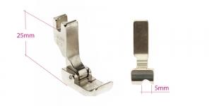 Kõrge kruvikinnitusega (tööstusliku õmblusmasina standard) paspuaalkanditald, 5 mm, renn paremal, KL0846