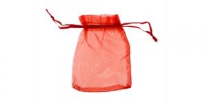 PA2B 12x9cm Punane läbipaistev kinkekott