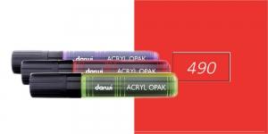 Akrüülvärviga viltpliiats, katva värviga, 15mm, 25ml, Darwi Acryl Opaque, VERMILION 490