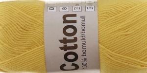 Cotton; Värv 722 (Erk kollane) / Cotton Yarn; Colour 722 (Bright Yellow)