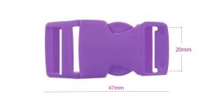 Plastikust pistlukk 47 mm x 23 mm, rihmale laiusega 20 mm, Tumelilla, UG5B