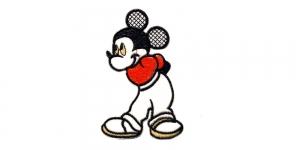 AE4 12 x 8 cm Punane, must, valge Miki hiir