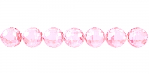 10mm Heleroosa läbipaistev tahuline akrüülhelmes, AD15