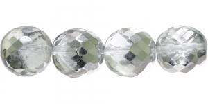 Ümar tahuline klaaspärl, Tšehhi, 20mm, Värvitu läbipaistev 1/3 AB- kattega, LJ6