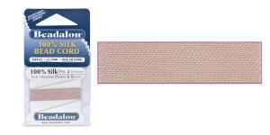 100% siidist niit, ø0,45 mm, 2 m, roosakasbeež, Beadalon 102B-100