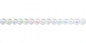 Värvitu AB-kattega ümar plasthelmes, 4mm ,BP11