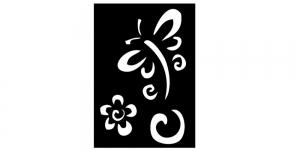 Iseliimuvad šabloonid värvimiseks 7cm x 10cm Ki-Sign BS-007