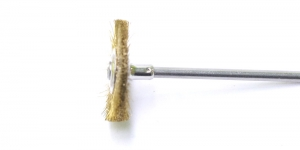 Messingist ketashari, Brass Bristle Disc Brush with Stem, 21 x 1,5 mm, TK13