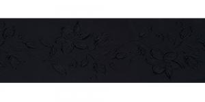Jacquard satin ribbon, Art.64968, color No. Black