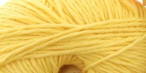 Puuvillasisaldusega veidi elastne lõng Calmer; Värv 494 (Kollane) / Rowan
