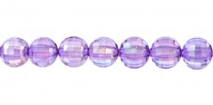 AI1 8mm Helelilla AB-läikega, läbipaistev tahuline akrüülkristall