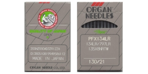 Tööstusliku õmblusmasina nahanõel, System: 134LR, 135x5 LR, SY1955 LR, DPx5 LR, ORGAN Nr.130 (= No.21) 10 tk/kompl