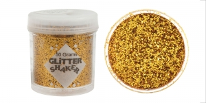 Glitter powder (1x1mm flakes), 50g, golden, Trimits GL22