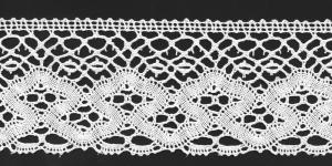 Puuvillane servapits 3637-01 laiusega 7,7cm, Värv 01, valge