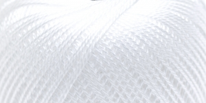 Pärlniit Perle 5 tikkimiseks ja heegeldamiseks; Värv 0000 (Valge) / Madame Tricote