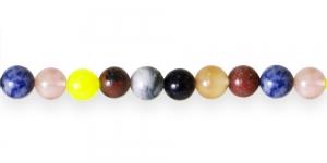 JN39 10,3mm Värvisegu piimjad ümarad ahhaathelmed 10tk
