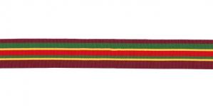 Tumepunase-rohelise-kollase-punasetriibuline klubipael / Club Taffeta Lace / 25mm