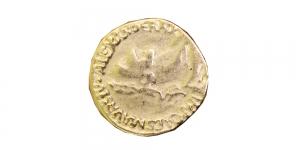 SF16 Metallist vanaaegset münti meenutav kannaga nööp 22mm/34L