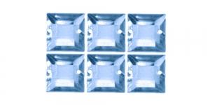 WH34 12mm Hallikassinised õmmeldavad kristallid, 6tk