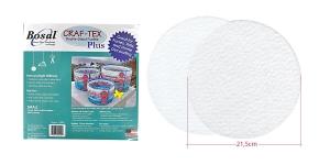 Kahepoolse liimiga triigitav tugimaterjal ø21,5 cm, 2 tk, Craf-Tex, Bosal CamS